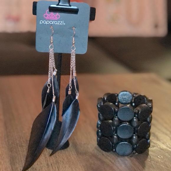 Black Wood Bracelet - EARRINGS SOLD